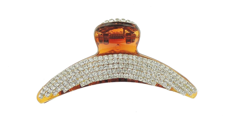Extra Sparkly Black Diamante Crystal Evening Ladies Luxury Small 6cm Hair Claw