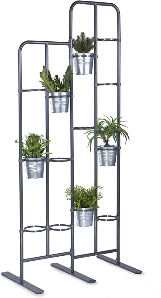 Soporte vertical de metal para 13 plantas, ideal para el balcón, patio o jardín, como biombo, para poner un jardín vertical en casa o para jardinería urbana: Amazon.es: Jardín
