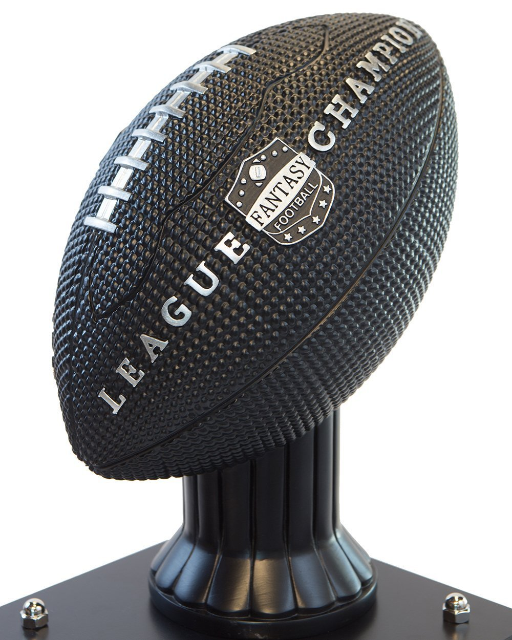 Customizable 36'' Fantasy Football Trophy Free Engraving up to 19 Years Past Winners (Vivid Black) (36'' Tall, Black Columns) by TrophySmack