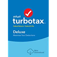 TurboTax Deluxe 2018 Fed Efile MAC Download [Amazon Exclusive]