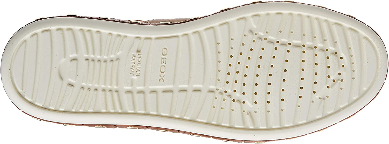 Geox D Leelu' E, Sneakers Basses Femme Marron Cognac Lt Bronze C6nb6
