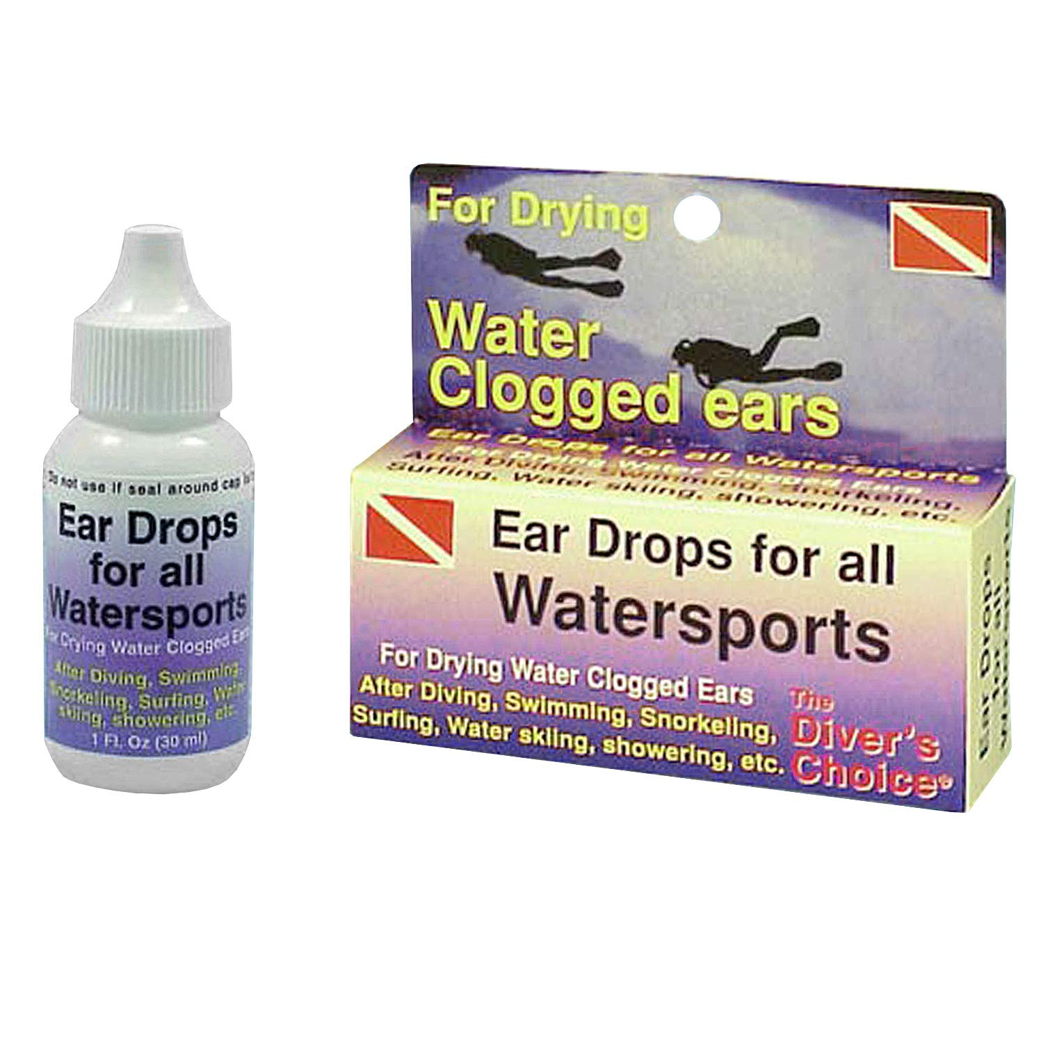 Trident Ear Drops for Scuba Diving, Swimming, Snorkeling, and All Watersports Swim Swimmers Ear Snorkel Diving Dive Divers Boating Sailing Kayak Canoe
