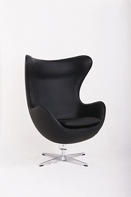 Studiodecochic Chair Egar Inspiration Arne Jacobsen Egg Chair Black Amazon Co Uk Kitchen Home