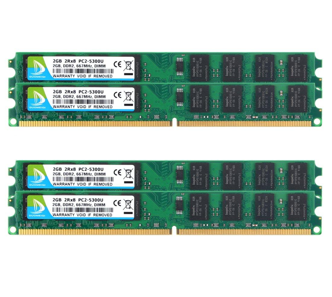 Memoria RAM 8GB DUOMEIQI DDR2 PC2-5300 PC2-5300 DDR2 667 DDR2 Kit (4x2GB) DDR2 240-Pin 2RX8 1.8V CL5 DIMM DDR2 Modulo pa