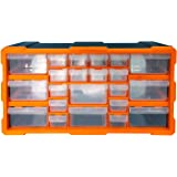 DIY Tool Bits Plastic Opslag Organisator Units - Workshop Schroeven en Kleine Onderdelen Kast of Bureau Stationaire Craft Box Zwart/Oranje 22 Drawer Cabinet ORANJE