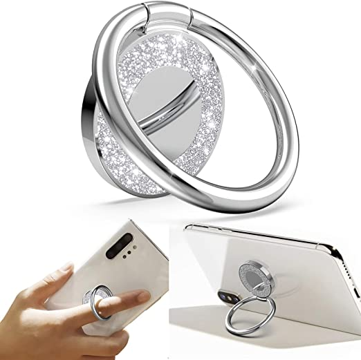 Phone Ring Holder Finger Kickstand Compatible with iPhone Samsung Galaxy All Smartphone 360/° Rotation Metal Ring Grip for Magnetic Car Mount
