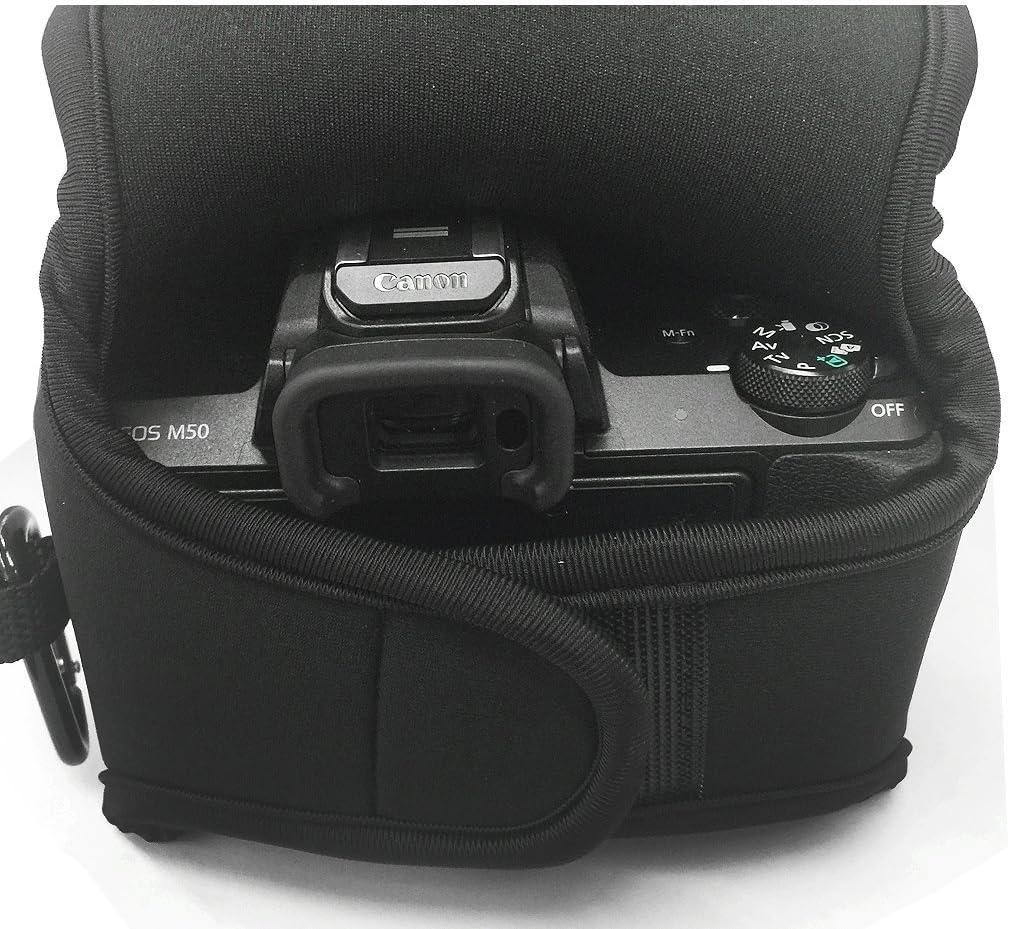 25mm F1.4// 25mm F1.7// 45mm F2.8// 30mm F2.8 Lens First2savvv /étui Housse Appareil Photo num/érique pour Panasonic Lumix DMC GX9 GX85 GX80 avec Lens QSL-GX85-10