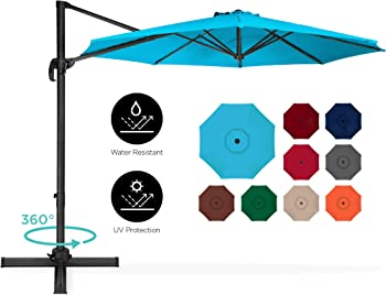 BCP 360-Degree Rotating Cantilever Offset Patio Umbrella 10ft