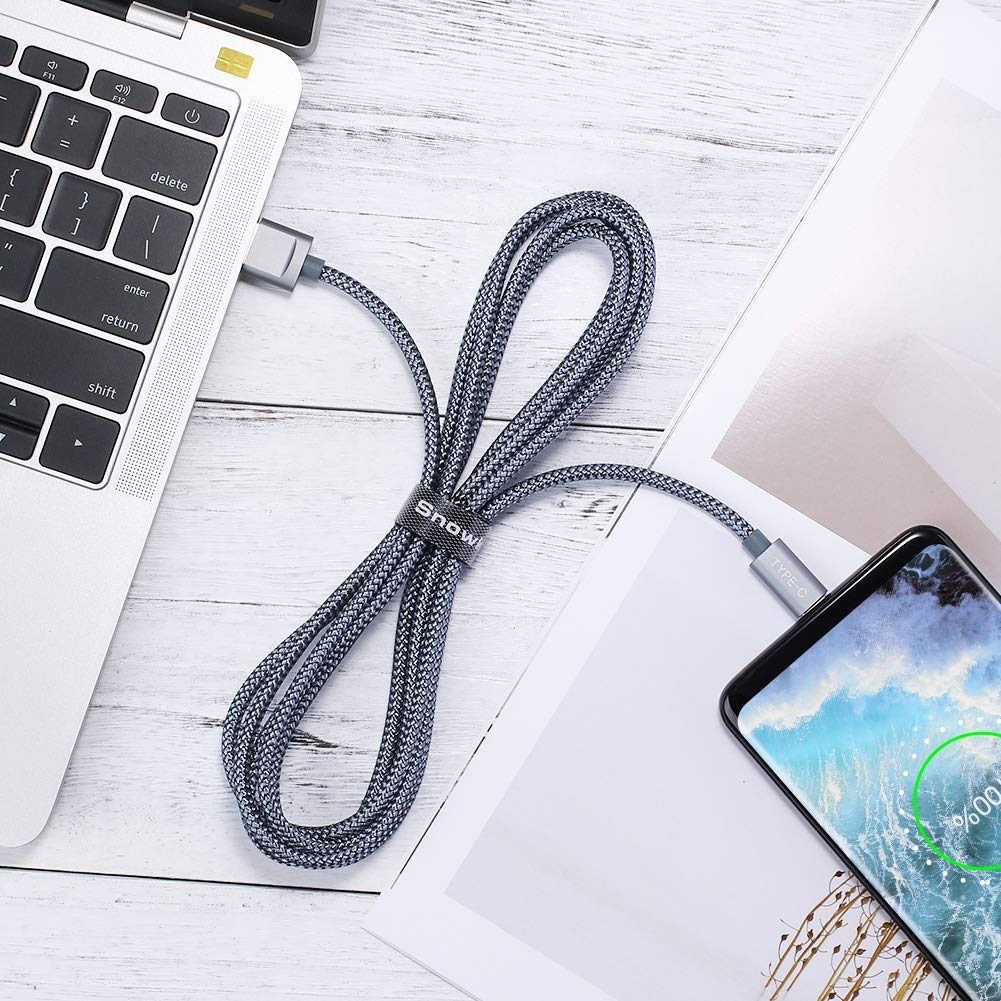 LG V30 V20 G6 5 Snowkids USB Type C Cable Switch 6.6ft+3.3ft Nylon Braided Fast Charger Cord for Samsung Galaxy Note 9 Note 10 S10,Google Pixel 2 Grey USB 3.0 USB C to USB A OnePlus