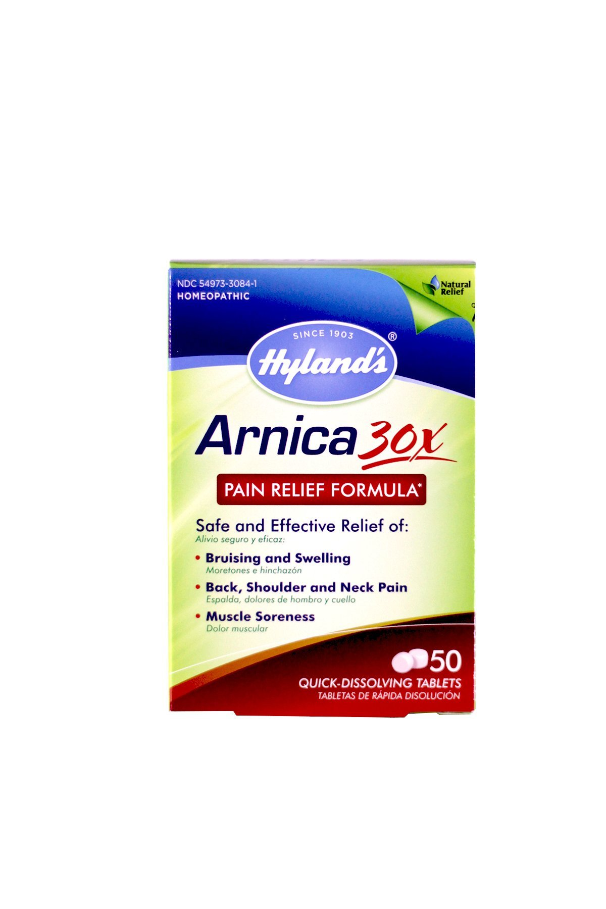 Hyland's Arnica Tablets 30X, Natural Homeopathic Bruising and Pain Relief, 50 Count (Pack of 6)