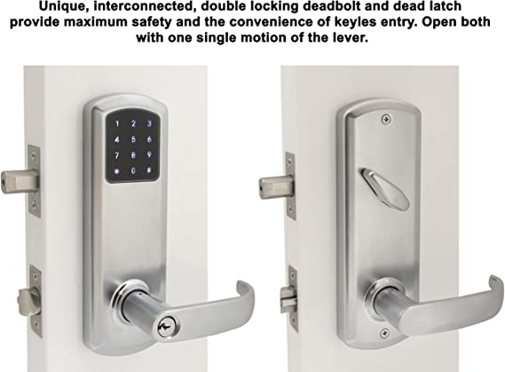 Prodigy Smartlock Maxsecure Interconnect Commercial Grade Lock With Rfid Keyless Entry Right Hand 4 Satin Nickel Amazon Com