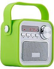 Bluetooth Lautsprecher mit Radio, Tragbar FM Radio Wireless Küchenradio - 5W 2200mAh 3.0 Bluetooth Drahtlose Lautsprecher mit Starken Bass & USB AUX Eingang,TF Steckplatz von VOOKI