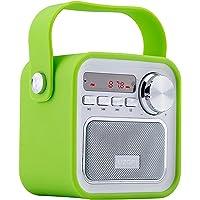 Altavoz Portátil con Radio FM (Bluetooth, Micrófono Incorporado, AUX Entrada, Subwoofer inalámbrico) Altavoz Recargable, USB Entrada, Lector de Tarjeta, Aporta Manos Libres para Smartphones, Tablets