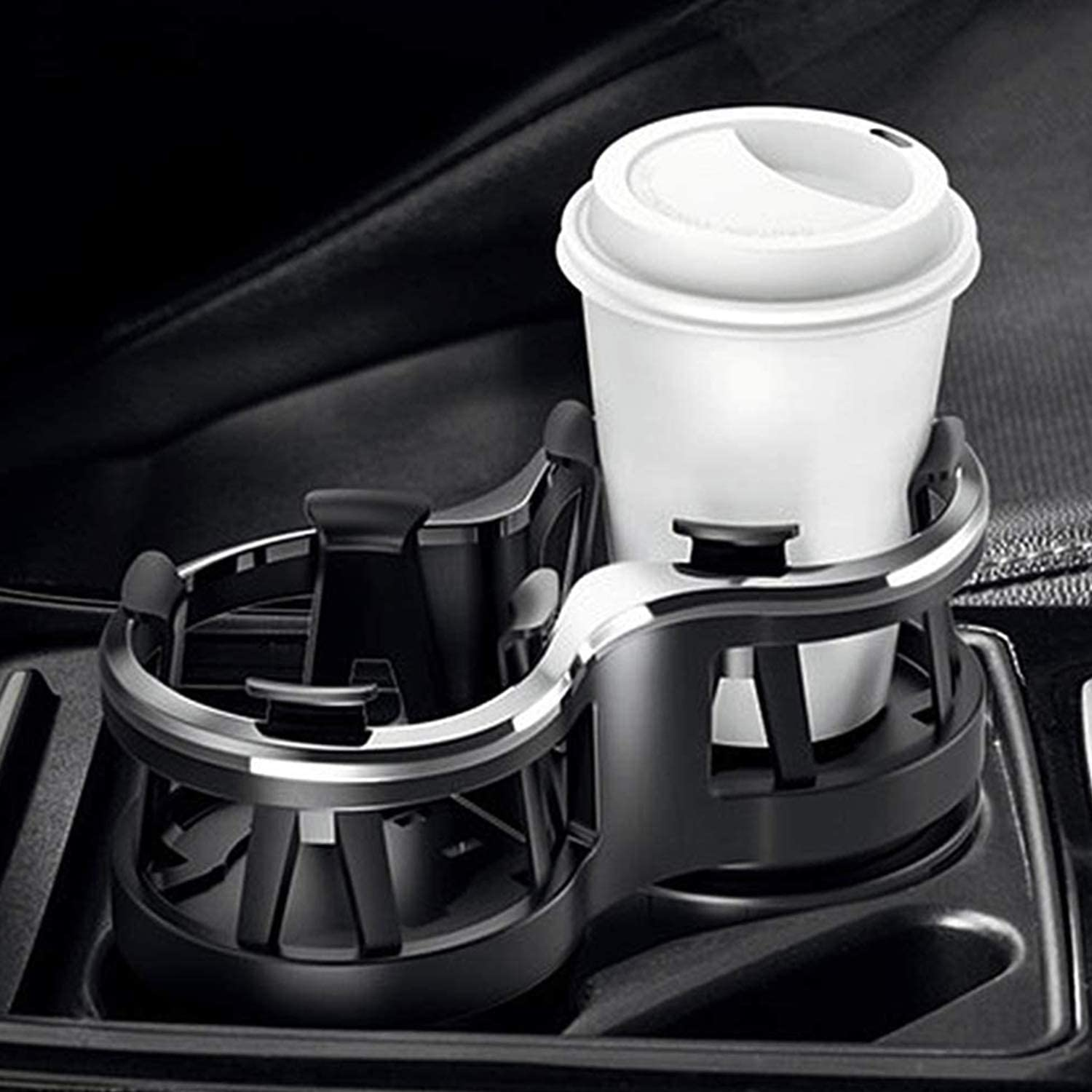 Car Cup Holder Drink Holder 2 in 1 Multifunctional Adjustable Base Cup Mount Extender for Car Drink Can Coffee Bottle Stand