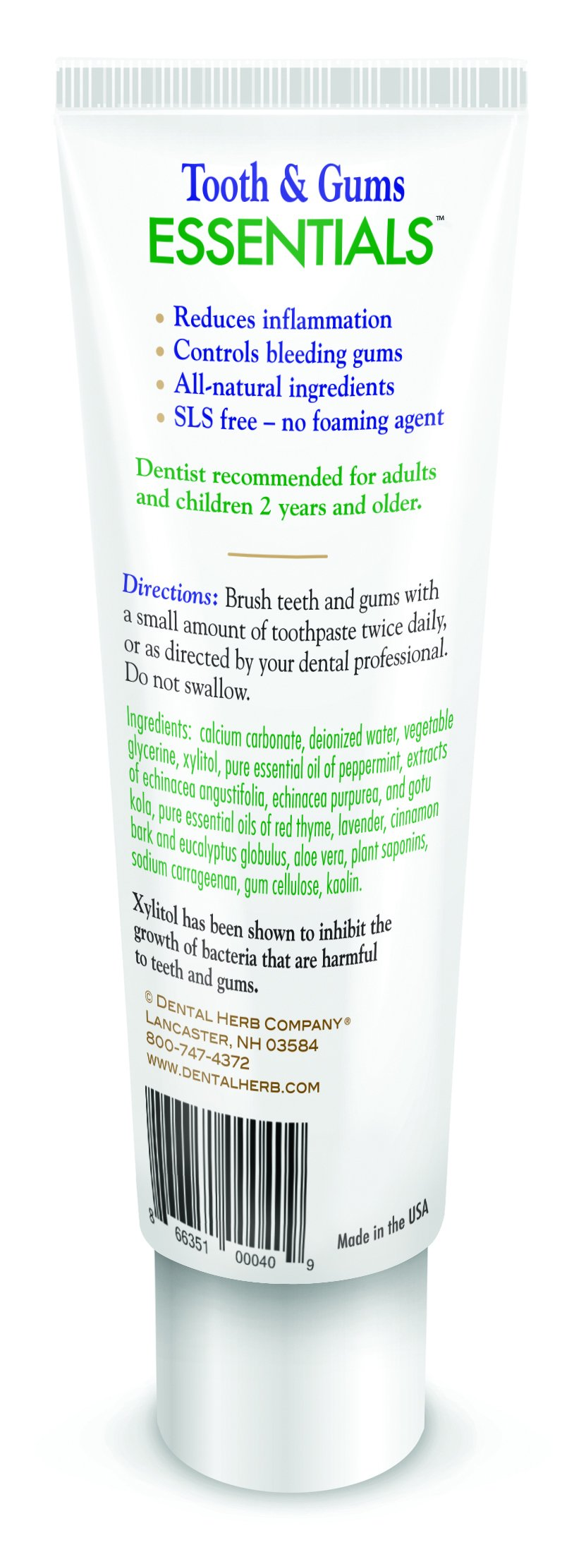 Tooth & Gums Value Pack - Under the Gums Irrigant and NEW Essentials Paste by Dental Herb Company (Image #1)