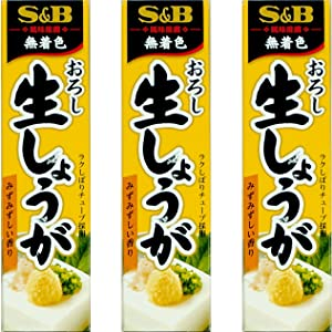 Japanese Seasoning S&B Grated Raw Ginger 3 tubes set
