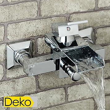 iDeko Robinet Mitigeur cascade de douche baignoire chrome Amazon
