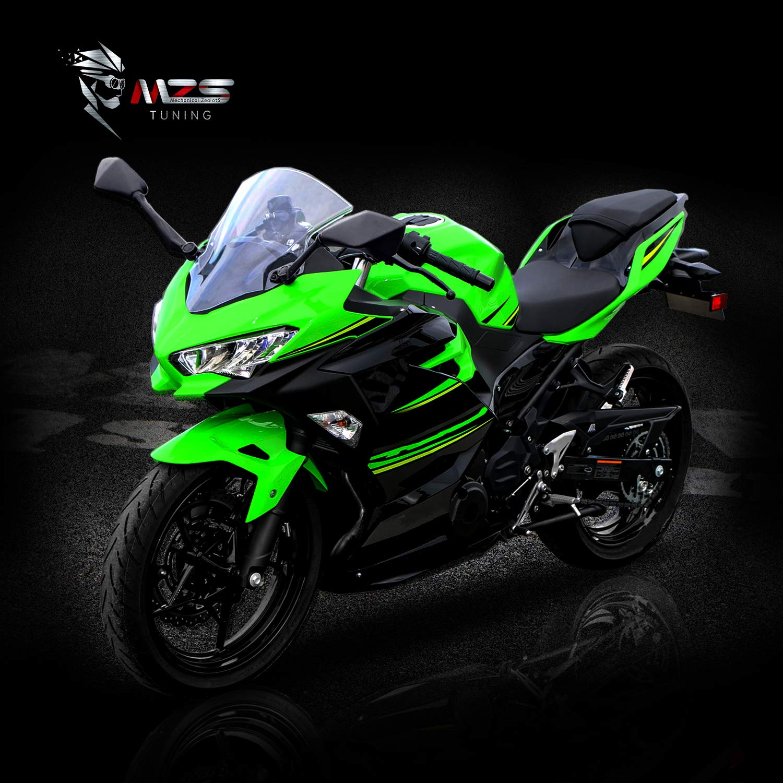 Ninja 300 EX300 ABS 2013-2018 MZS Motorcycle Mirrors Rear View for Kawasaki ZX6R ZX-6R ZX636 2013-2018 Ninja 400 EX400 2018-2019