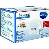 Brita Maxtra + Cuatro Filtros para El Agua, Cartuchos de Filtrado para El Agua, Recambios Compatibles con Jarras Brita que Reducen la Cal y El Cloro