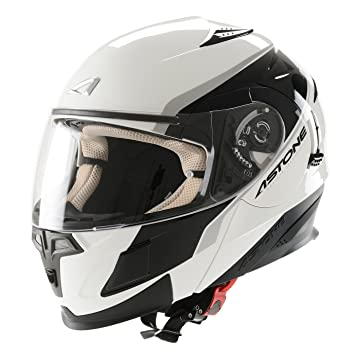 Casco Moto Modular ASTONE - RT1000 GRAPHIC EXECUTIVE BLANCO (L)