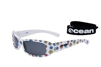 Ocean Sunglasses Uluwatu - Gafas de Sol polarizadas - Montura : Blanco Brillante/Flor -