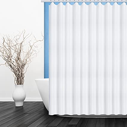 Fivanus Shower Curtain Lock Hole Heavy Duty Bathroom Liner Mildew Resistant Washable Polyester