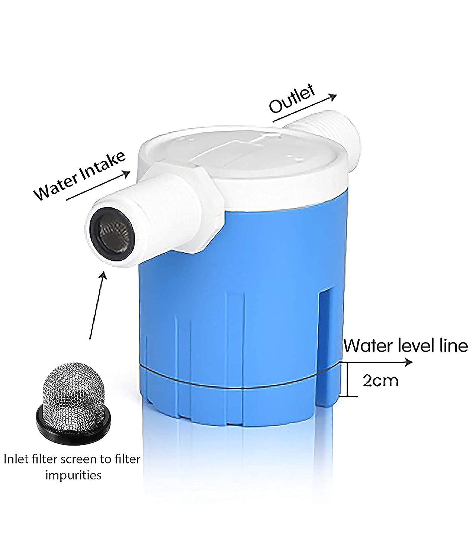 Aquarium Auto Pot Solar Energy IMXMI 1//2 Automatic Water Level Control Valve Inside Type,Side Inner Water Automatic Float Valve Water Level Control Valve Uesd for Water Tank