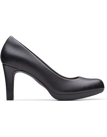 Groß Damen Clarks Schuhe Kendra Petrol High Heeled