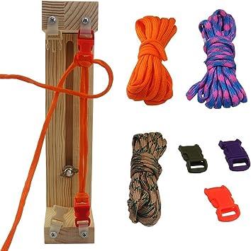 Réglable Paracord Jig Bracelet Maker Tressage Tissage DIY Craft Tool Kit