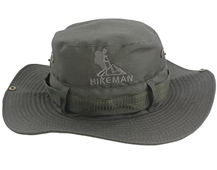 Hikeman Outdoor Fishing Hats Boonie Hat Bucket Cap Summer Sun Hat - UPF 50  Protection for Men   Women Waterproof for Hiking Camping Gardening  Traveling ... 1ca2abb5bba