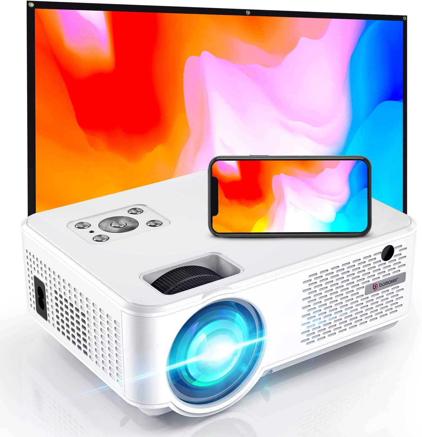 BOMAKER Wifi projector 7000 lumens 720p 300 inches