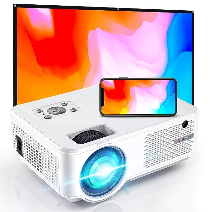 WiFi Proyector, Proyector Full HD 800P Nativo, 6000 Lúmenes, Proyector Portátil, Cine en Casa, proyector para…