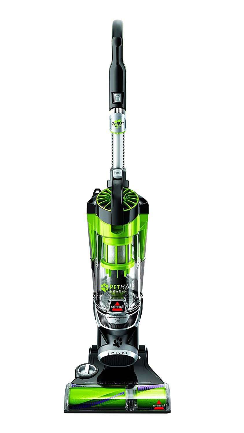 Bissell Pet Hair Eraser 1650A Upright Vacuum with Tangle Free Brushroll - May Come in Various Colors (Certified Refurbished)