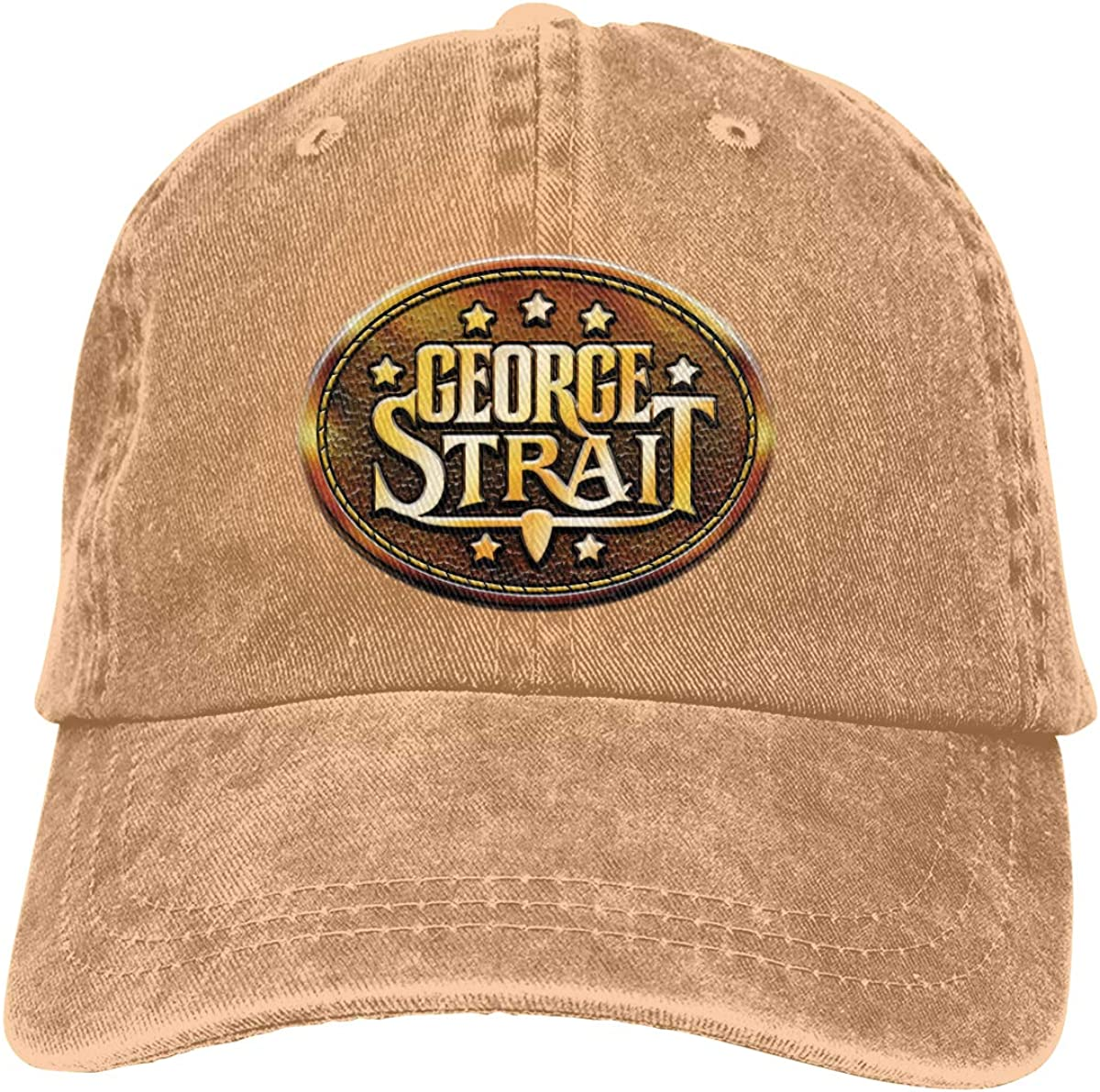 Robert S Villa George Strait Comfortable Plain Cotton Adjustable Washed Twill Low Profile Baseball-Cap Unisex Black