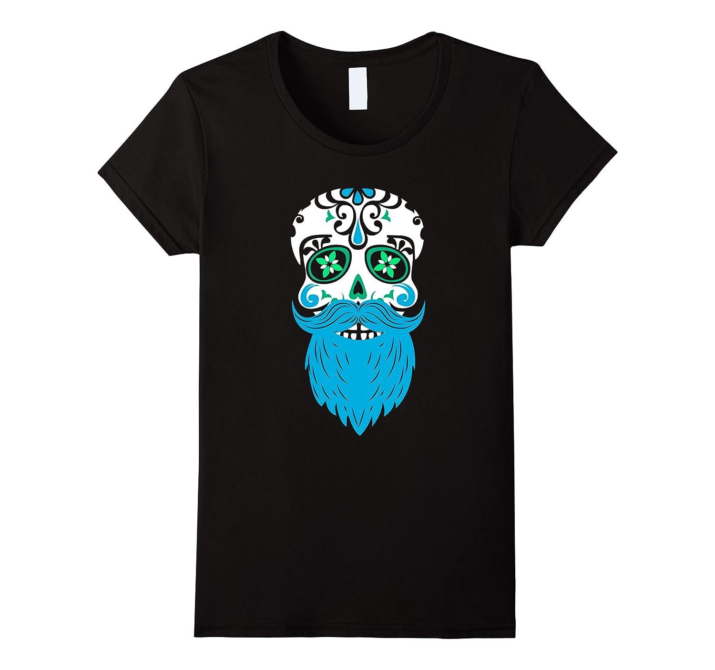 Sugar Skull Beard – Day of the Dead T-Shirt  Souvenir Shirt-Veotee