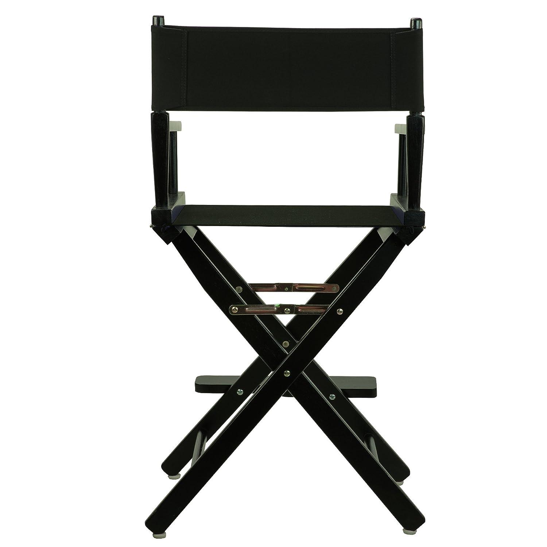 "Amazon Casual Home Frame Canvas Director Chair 24"" Black"