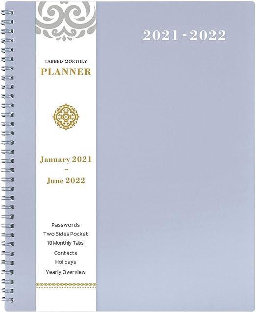 18 Month Large Monthly Wall Planner Navy Floral 2021-2022 Desk Calendar