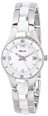 Relic Womenu0027s Charlotte Quartz Stainless Steel And Ceramic Dress Watch,  Color Silver Tone,