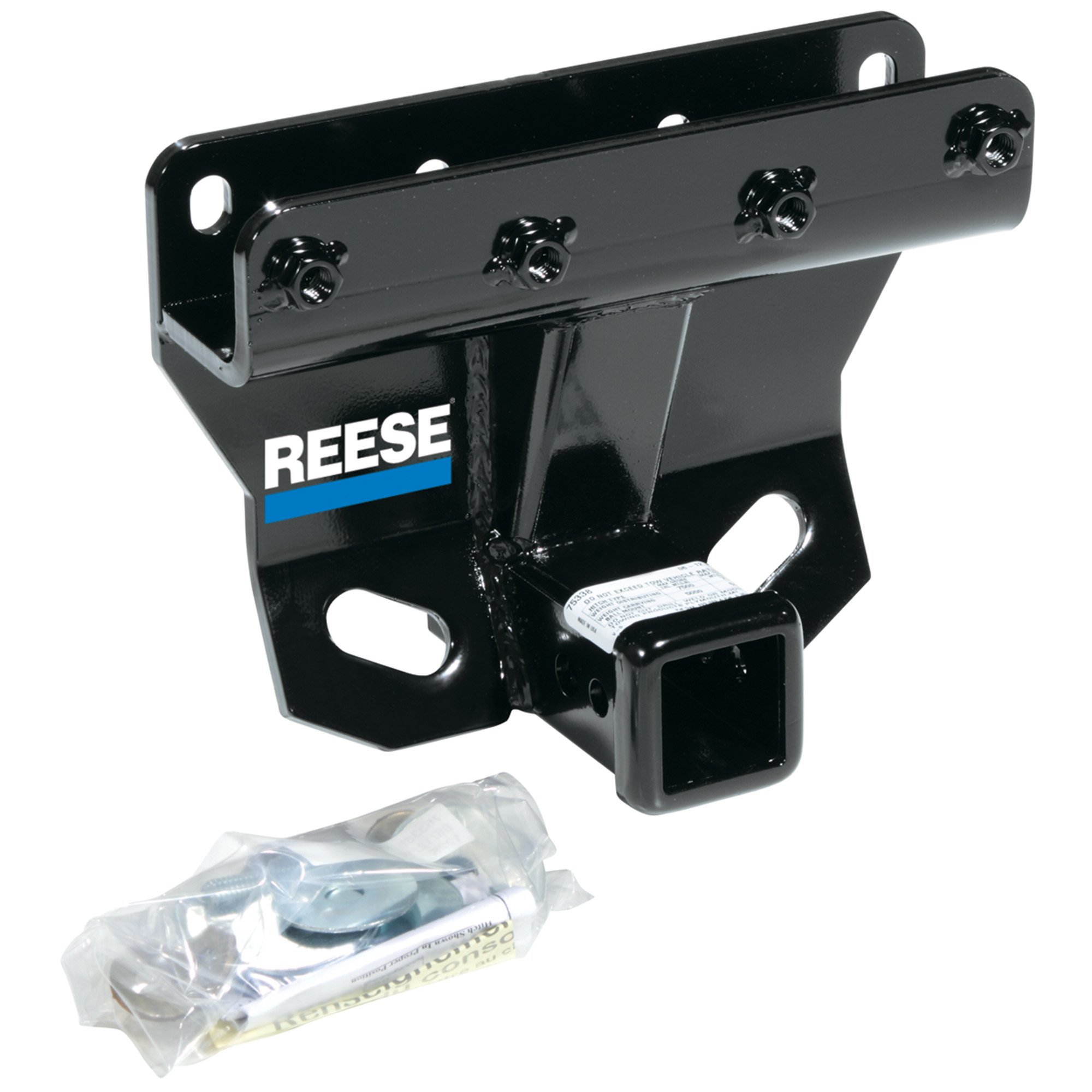 Reese 44748 Class III-IV Custom-Fit Hitch with 2'' Square Receiver opening, includes Hitch Plug Cover by Reese Towpower