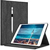 """iPad Pro Case, Benuo [Classic Brief Series] [Storage Pocket] 12.9"""" Leather Case [Pencil Holder] [Invisible Stand], Protective Case [Magnetic Closure] Auto Wake / Sleep for iPad Pro 12.9 inch (Black)"""