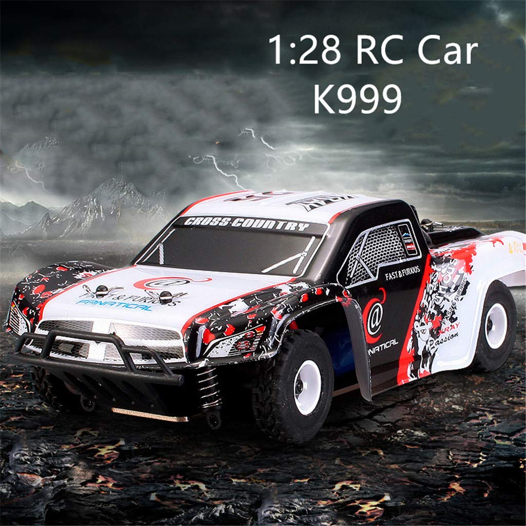 1:28 Remote Control RC Racing Car 2.4Ghz 4WD High Speed Off Road RC Car Electric Remote Control Truck RC Drift Car Toys for Kids & Adults by DaoAG (Image #5)