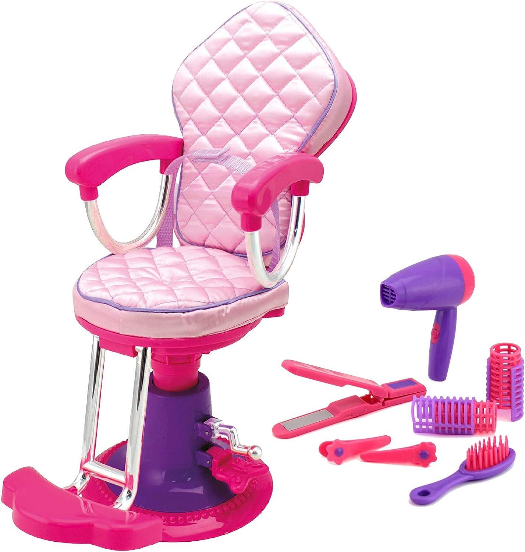 Molly Dolly - Juego de Accesorios y sillas para salón de muñecas de 18 Pulgadas - Se Adapta a la mayoría de Las muñecas de 18 generación o muñecas Americanas