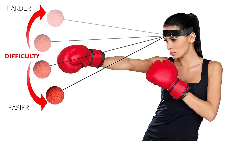 Niveau de difficult/é Balles de Boxe pour am/éliorer Les r/éactions de Vitesse et la Coordination /œil-Main Balle de r/éflexe de Boxe r/éflexe de Balle de Combat de Boxe Balle de Vitesse de Boxe