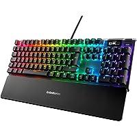 SteelSeries Apex 7 - Mekanik Oyun Klavyesi - OLED Akıllı Ekran - USB Doğrudan Bağlantı & Medya Kontrolleri - Kırmızı Düğmeler - Türkçe QWERTY