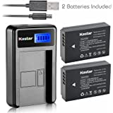 Kastar Battery (X2) & LCD Slim USB Charger for Canon LP-E12 and Canon EOS 100D, EOS Rebel SL1, EOS M Camera System & Canon LPE12 Grip