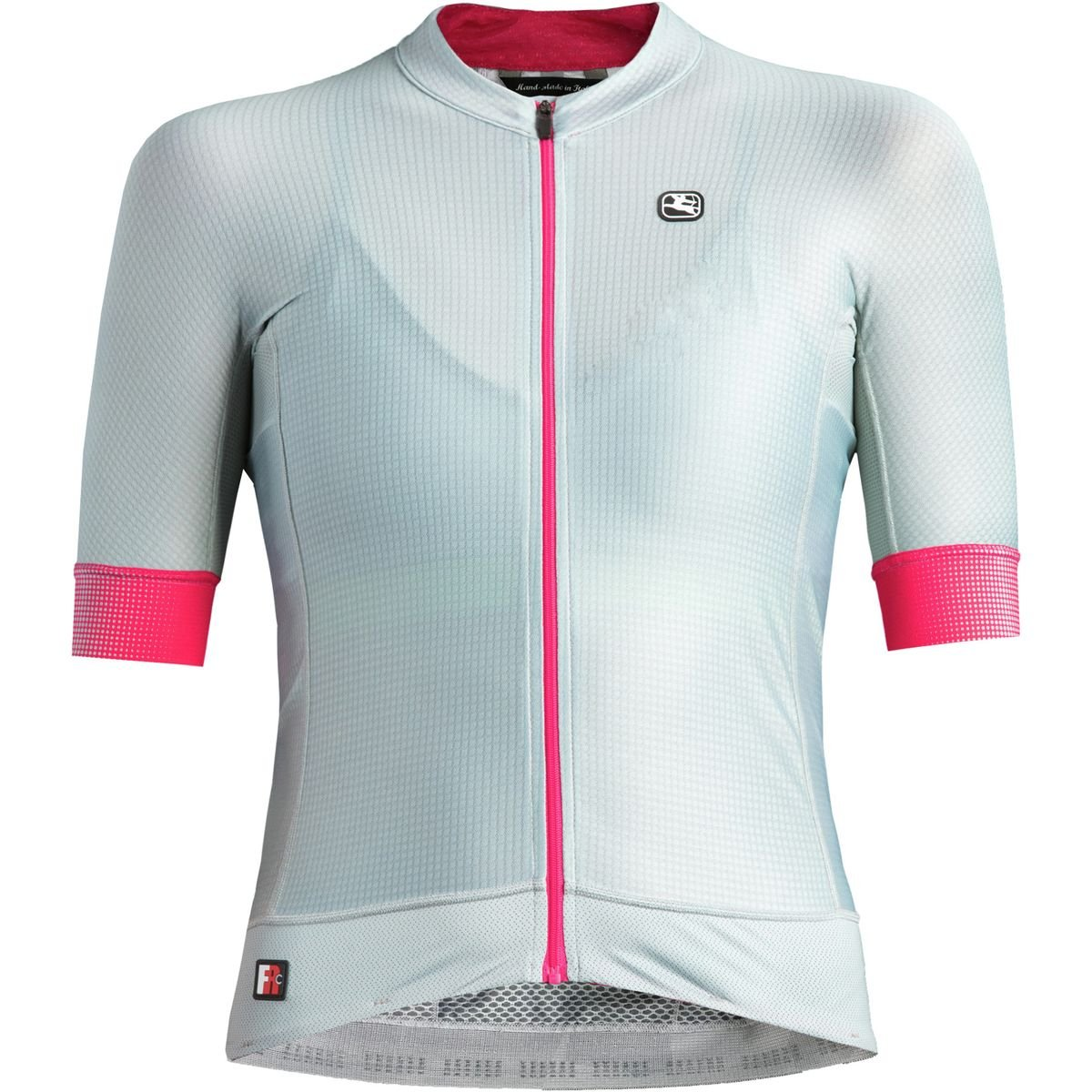 Giordana FR-C Pro Short-Sleeve Jersey - Women's Cool Grey/Pink, XS