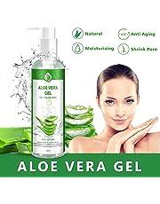 Aloe Vera Gel Bio 100% - für Gesicht, Haare und Körper - Natürliche, beruhigende und pflegende Feuchtigkeitscreme - Ideal für trockene, strapazierte Haut & Sonnenbrand - 250ml, MEHRWEG