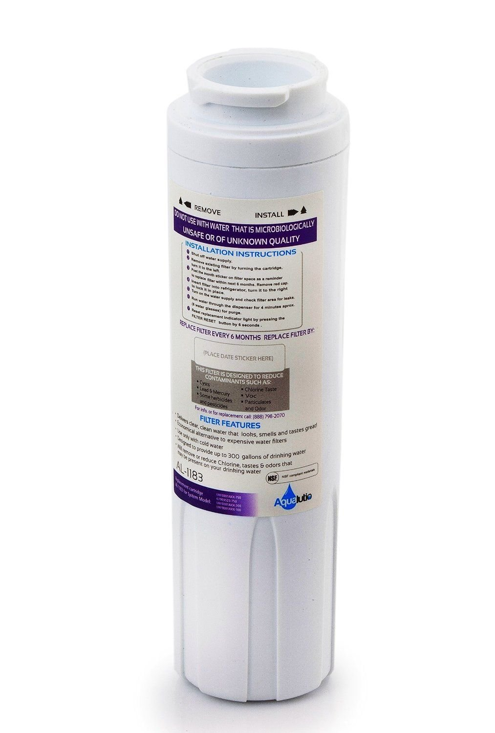 3 Pack- Maytag UKF8001 PUR Water Filter Fast Flow Refrigerator Water Filter Replacement by AQUALUTIO - UKF8001AXX, EDR4RXD1, Whirlpool 4396395, Puriclean II, Kenmore 9006. 3 Pack.