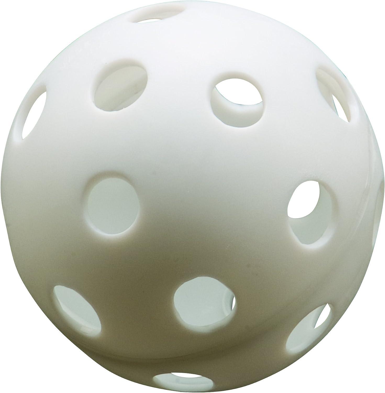 "Athletic Specialties Perforated Plastic Baseballs 9/""100 Balls"