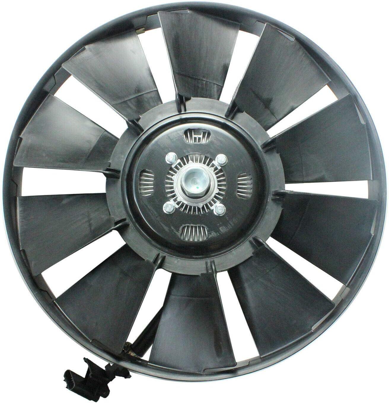 LOSTAR Electric Radiator Cooling Fan Clutch w/Blade For 2002-2009 Chevy Trailblazer Envoy 9-7x 15293048 15229250